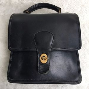 Vintage Coach Legacy Black Station Bag USA